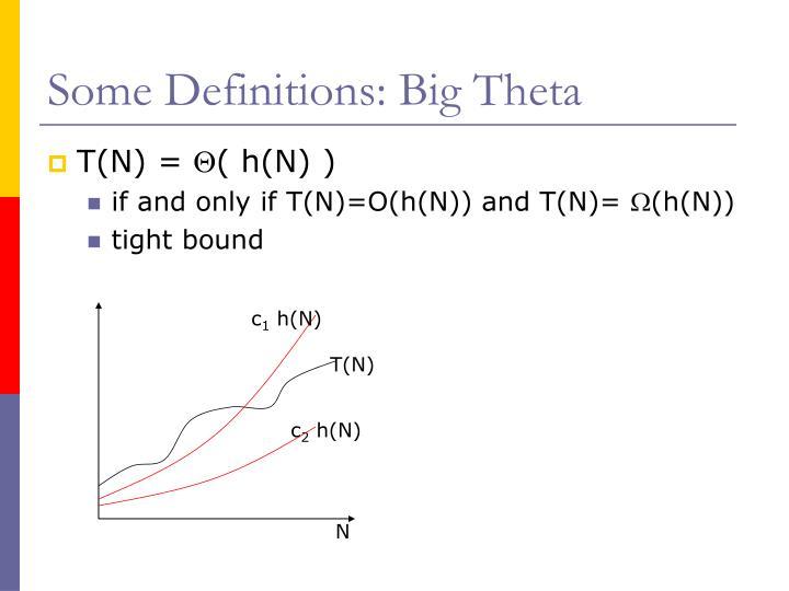 Some Definitions: Big Theta