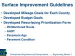surface improvement guidelines