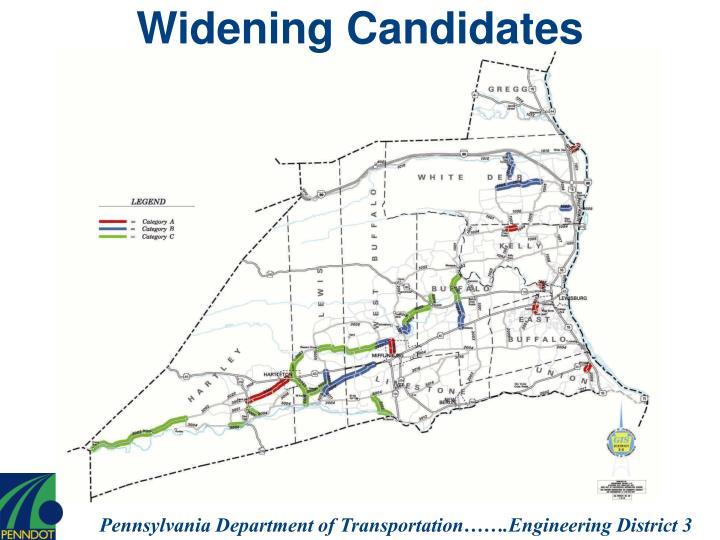 Widening Candidates
