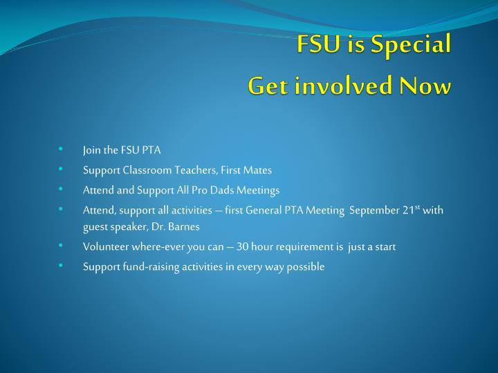 FSU is Special