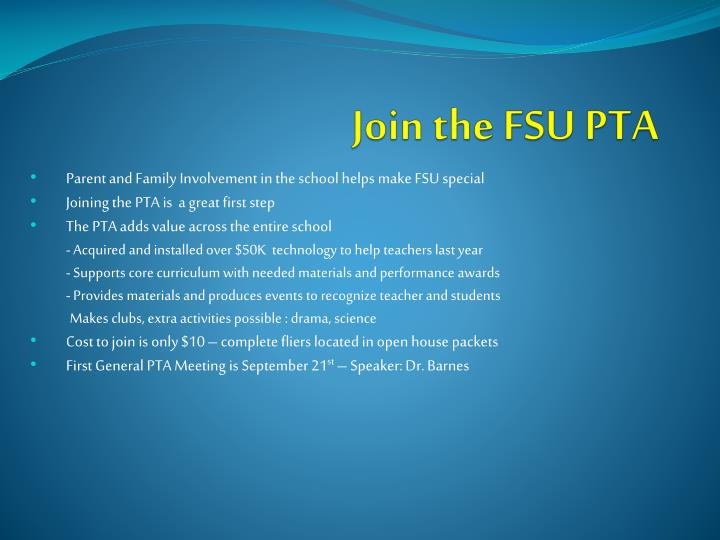 Join the FSU PTA