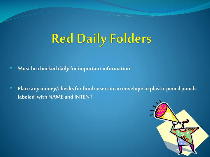 Red Daily Folders