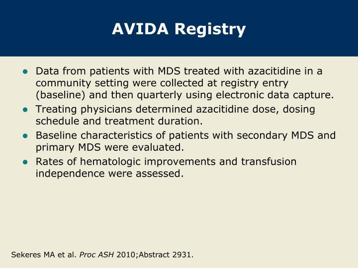 AVIDA Registry