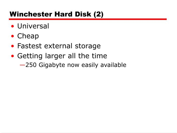 Winchester Hard Disk (2)