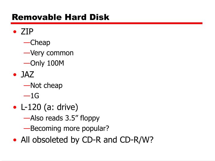 Removable Hard Disk