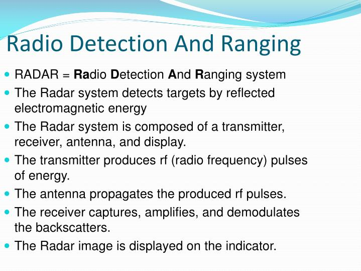 Radio Detection
