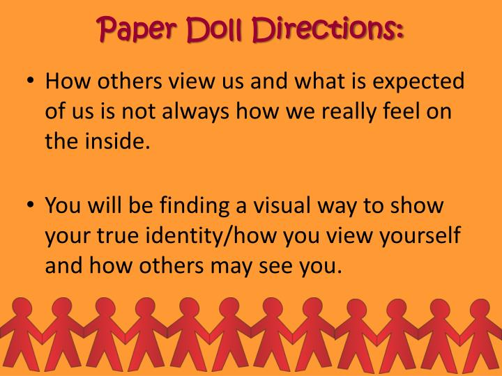 Paper Doll Directions: