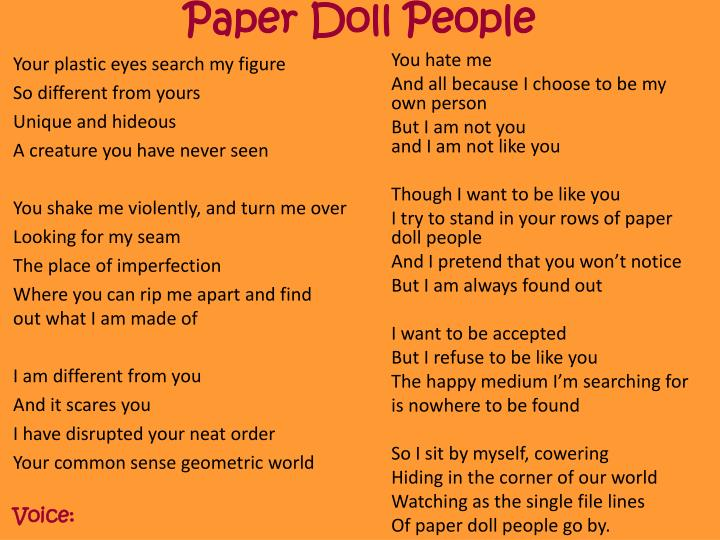 Paper Doll People
