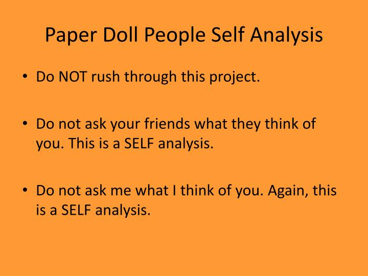 Paper Doll People Self Analysis