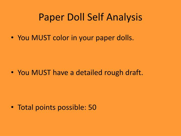 Paper Doll Self Analysis