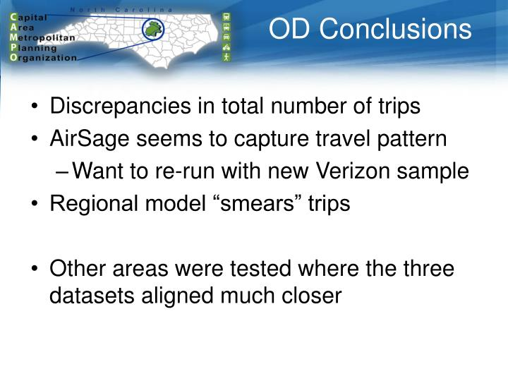 OD Conclusions