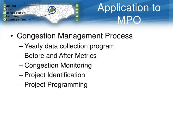 Application to MPO