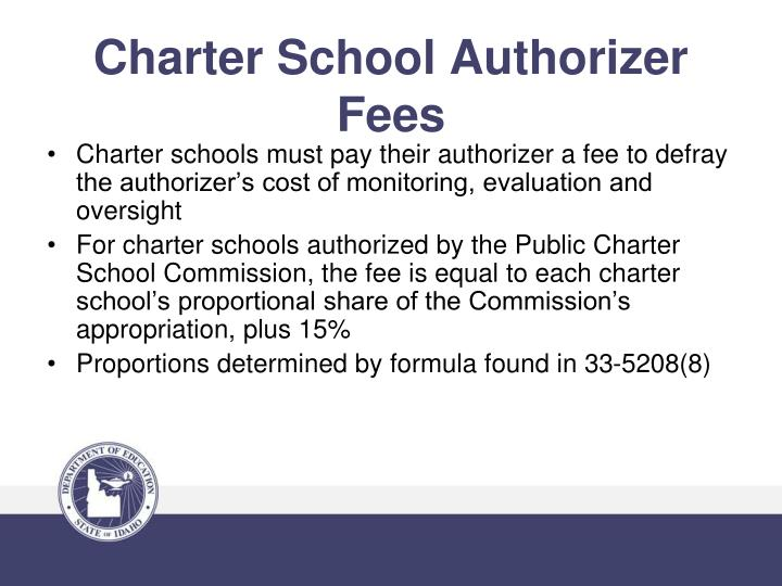 Charter School Authorizer Fees
