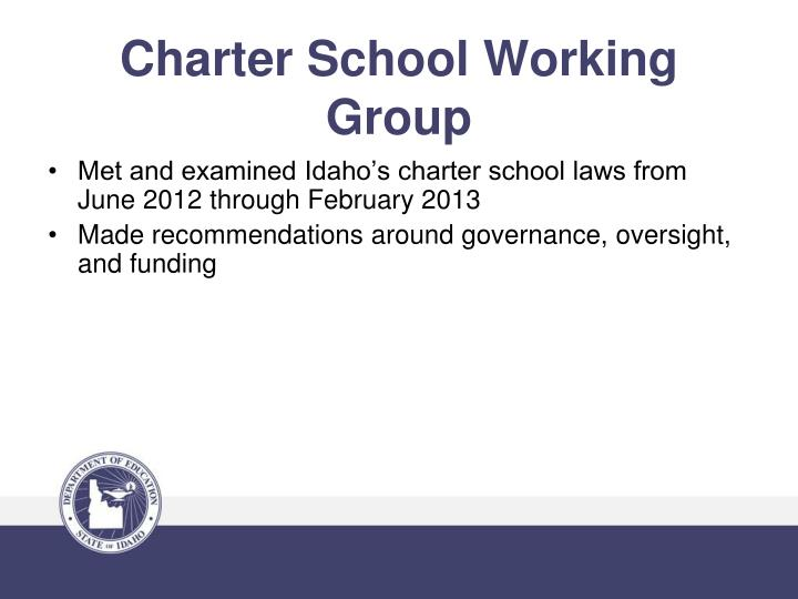 Charter school working group1