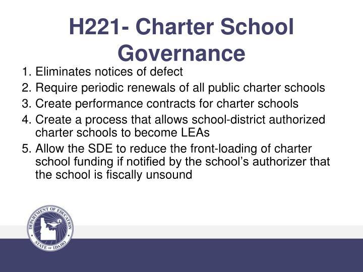 H221- Charter School Governance