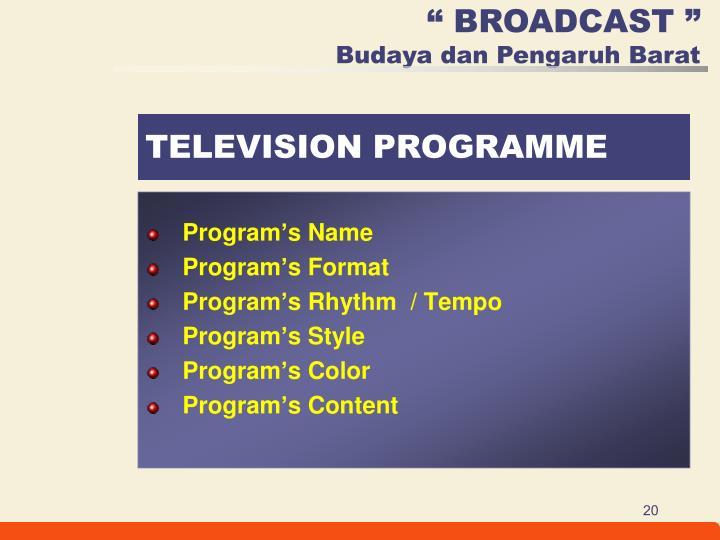 Program's Name