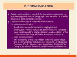 v communication