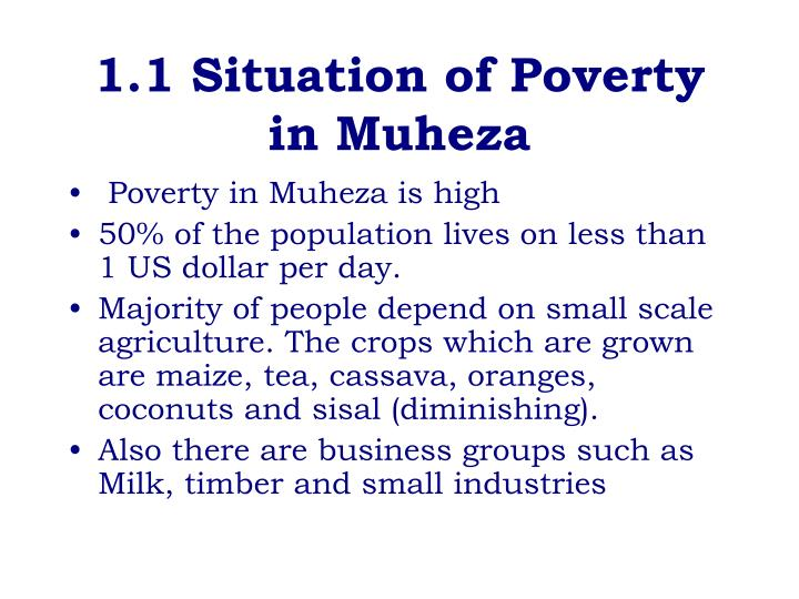 1 1 situation of poverty in muheza