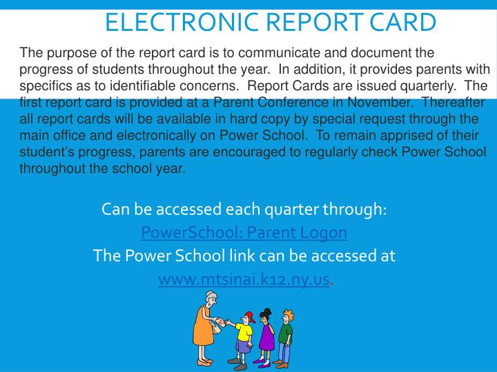 Electronic Report Card