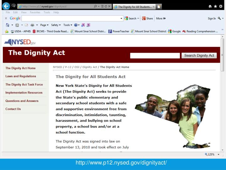 http://www.p12.nysed.gov/dignityact/