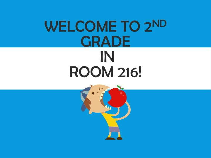 Welcome to 2 nd grade in room 216