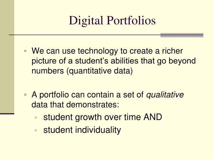 Digital portfolios1