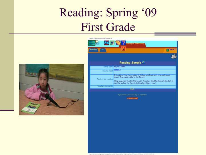 Reading: Spring '09
