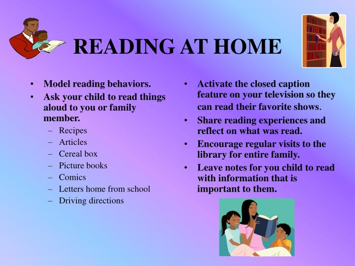 Model reading behaviors.