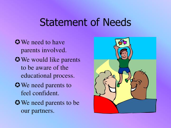 Statement of Needs