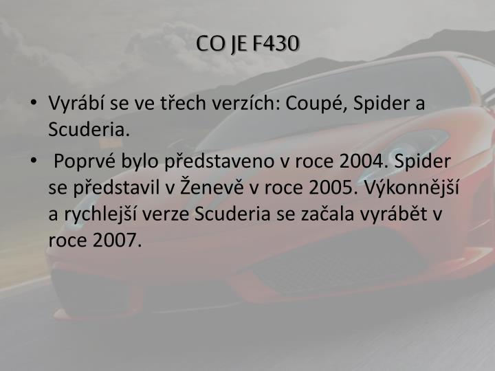 CO JE F430