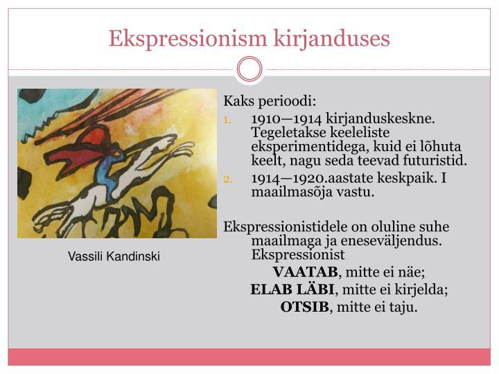 Ekspressionism kirjanduses