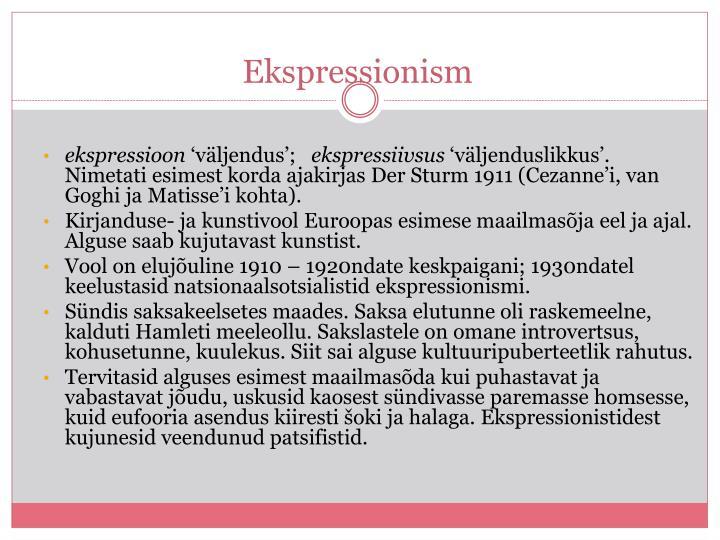 Ekspressionism