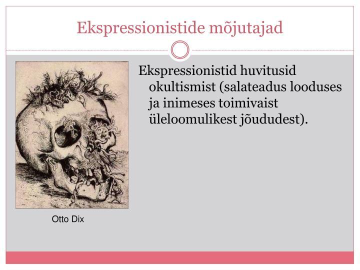 Ekspressionistide mõjutajad