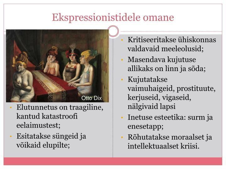 Ekspressionistidele omane
