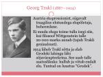 georg trakl 1887 1914