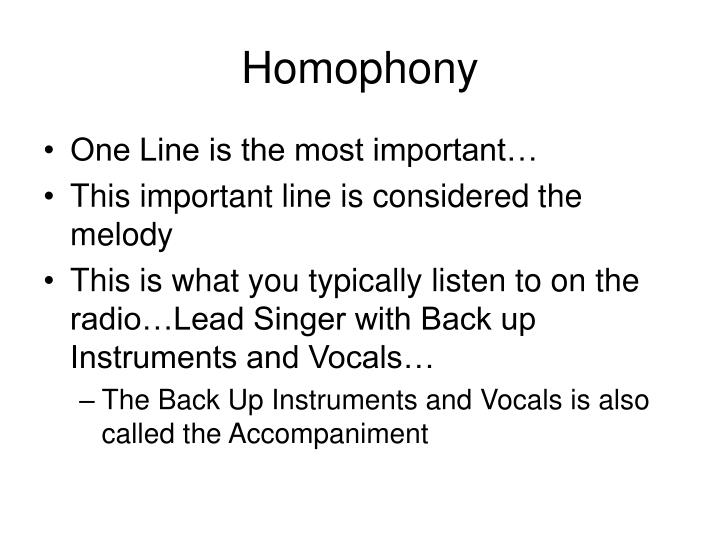 Homophony