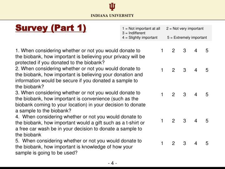 Survey (Part 1)
