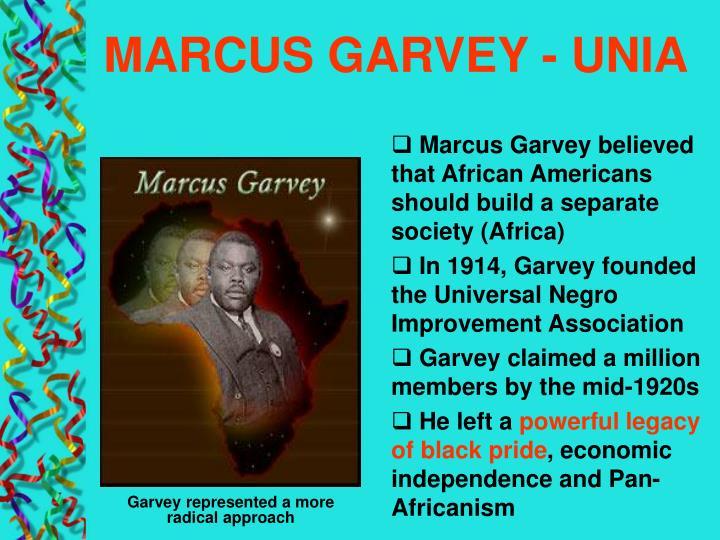 MARCUS GARVEY - UNIA