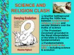 science and religion clash