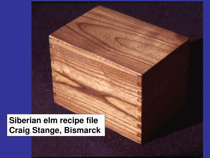 Siberian elm recipe file