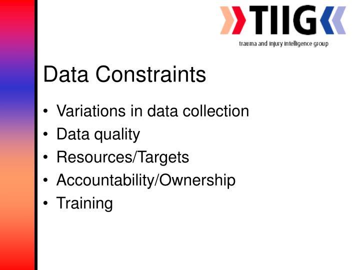 Data Constraints