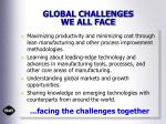 global challenges we all face