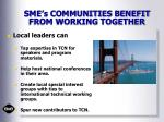 sme s communities benefit from working together