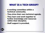 what is a tech group
