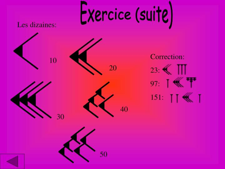 Exercice (suite)