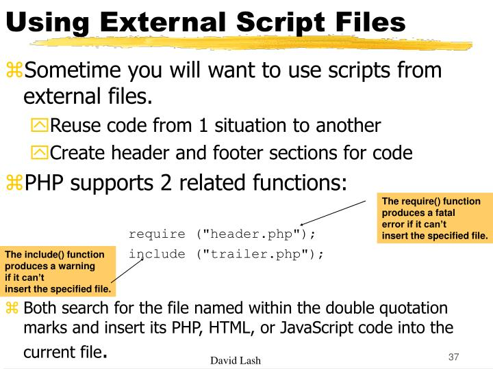 Using External Script Files