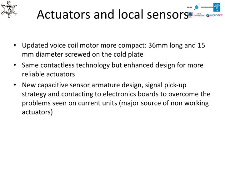 Actuators and local sensors