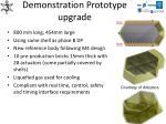 demonstration prototype upgrade
