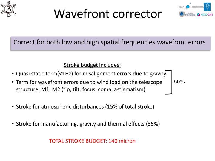 Wavefront corrector