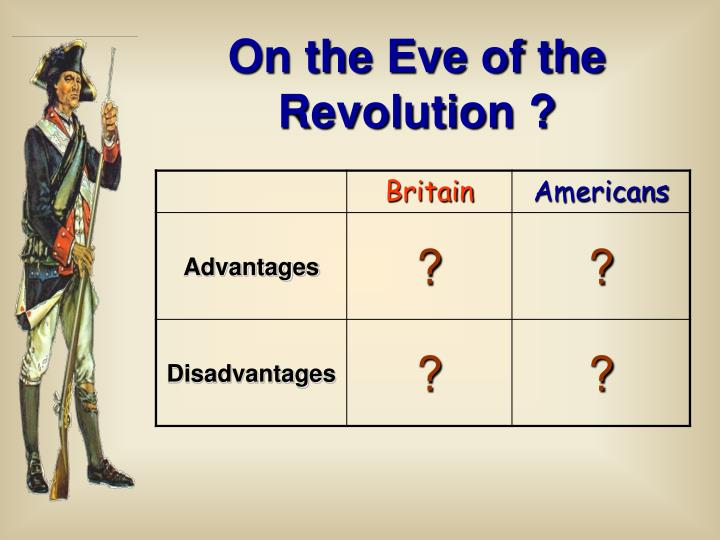 On the Eve of the Revolution ?